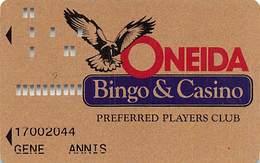 Oneida Bingo & Casino - Green Bay, WI - 1st Issue Slot Card - Casino Cards