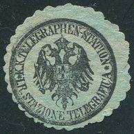 TELEGRAPH Austria 1870's ITALIAN PROVINCES Stazione Telegrafica Telegram Seal Telegramm Siegelmarke Österreich Vignette - Telegraph