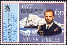BRITISH ANTARCTIC TERRITORY- HRH DUKE OF EDINBURGH IN THE ANTARCTIC-1956/7-SILVER JUBILEE-MNH-B3-865 - British Antarctic Territory  (BAT)
