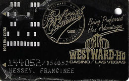 Westward Ho Casino Las Vegas - 1st Issue Slot Card Rarely Found In This Good Of Condition! - Casino Cards