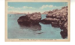 CP - Marseille  - Un Coin De La Promenade De La Corniche. Carte Coloriée. - Château D'If, Frioul, Iles ...