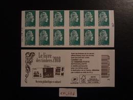 """2018  CARNET MARIANNE L'ENGAGÉE LETTRE VERTE  DATE 26.09.18 En POSITION BASSE """"LE LIVRE DES TIMBRES 2018"""" Variété - Booklets"""