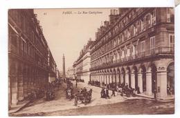 75  PARIS Rue Castiglione PLace Vendome ND - La Seine Et Ses Bords