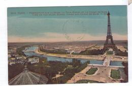 75  PARIS Perspective Sur La Seine Tour Eiffel Et Champs De Mars - La Seine Et Ses Bords