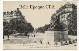 75 - TOUT PARIS 14 - #1463 - Lion De Belfort Et Boulevard Raspail ++++ FF / F. FLEURY ++++ - Arrondissement: 14