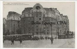 75 - TOUT PARIS 14 - #1465 - Les Immeubles Neufs De La Porte D'Orléans ++++ FF / F. FLEURY ++++ RARE - Arrondissement: 14