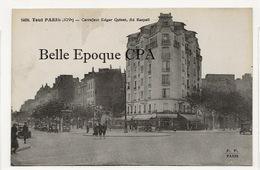 75 - TOUT PARIS 14 - #1468 - Carrefour Edgar Quinet - Boulevard Raspail ++++ FF / F. FLEURY ++++ RARE - Arrondissement: 14