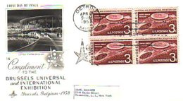 USA Brussels Expo Universelle Bloc/4 Sur FDC 1958 (A61-844) - Physics