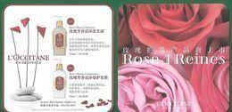 F -  Carte L'Occitane - Rose 4 Reines- Perfume Card - Chine - Perfume Cards