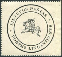 Lithuania Post 1930s Official Service Letter Packet Seal Label Litauen Siegelmarke Vignette Lituanie Postes Lituaniennes - Lithuania