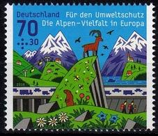 Bund MiNr. 3245 ** Umweltschutz: Die Alpen - BRD