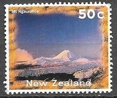 1996 50 Cents Mt. Ngauruhoe, No Gum - Unused Stamps