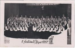 Latvia, 1. Festivals Riga 1957, Musik Music Choir Chorus - Lettonie