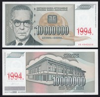 Jugoslawien - Yugoslavia 10000000 10-Millionen Dinara 1994 Pick 144a UNC - Jugoslawien