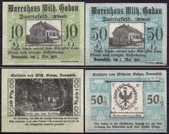 Sachsen-Anhalt - Dannefeld 10 + 50 Pfennig Notgeld Warenhaus Wilhelm Gadau(ca434 - Germany