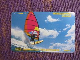 Tamura Phonecard,windsurfing, Used With Some Scratch - Hawaii