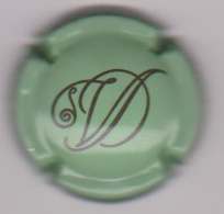 Capsule Champagne DELATTRE Veuve ( 1 , Vert Et Noir ) {S03-19} - Champagne