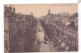 75  PARIS Boulevard Des Italiens Signe  Le Voltaire Horloge Rue - Transport Urbain En Surface