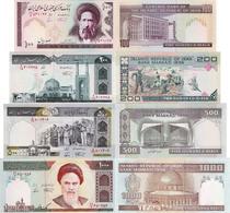 Iran Set 4 Pcs 100+200+500+1000 Rials - Pick 136-143 UNC Random Years - Iran