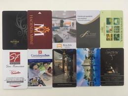 MEXICO - 10 HOTEL ROOM KEYS - Hotel Keycards