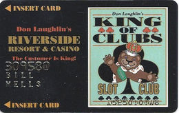 Riverside Casino - Laughlin, NV USA - 1st Issue Slot Card With Faraday Over Mag Stripe - Casino Cards