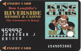 Riverside Casino - Laughlin, NV USA - 3rd Issue Slot Card With Faraday Over Mag Stripe & Phone# Added - Casino Cards