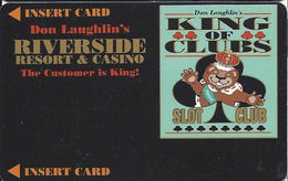 Riverside Casino - Laughlin, NV USA - BLANK 4th Issue Slot Card With DLR CP Over Mag Stripe - Casino Cards