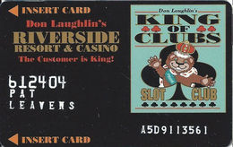 Riverside Casino - Laughlin, NV USA - 4th Issue Slot Card With DLR CP Over Mag Stripe - Embossed Player Info - Casino Cards