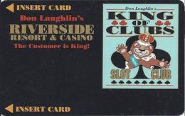 Riverside Casino - Laughlin, NV USA - BLANK 5th Issue Slot Card - 35mm Wide Logo Box - Casino Cards