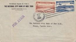 Domenikanische Republik: 1935: To Ponce/Puerto Rico, National City Bank Of NY - Dominican Republic