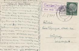 Ansichtskarte Freiburg Von Sendelbach über Lohr Nach Würzburg 1937 - Deutschland
