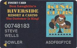 Riverside Casino - Laughlin, NV USA - 6th Issue Slot Card - 30mm Wide Logo Box - Local Price Sticker - Casino Cards