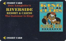 Riverside Casino - Laughlin, NV USA - BLANK 7th Issue Slot Card - 30mm Wide Players Club Logo Box - Casino Cards