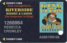 Riverside Casino - Laughlin, NV USA - 7th Issue Slot Card - 30mm Wide Players Club Logo Box - Casino Cards