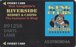 Riverside Casino - Laughlin, NV USA - 9th Issue Slot Card - 31mm Wide Logo Box - Casino Cards