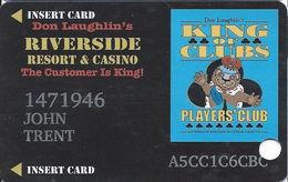 Riverside Casino - Laughlin, NV USA - 9th Issue Slot Card - 31mm Wide Logo Box & Local Pride Sticker - Casino Cards