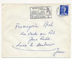 Enveloppe - OMEC Secap - EPINAL-THIERS (Vosges) - Fin Juin / Son Festival Des Images / Son Musée De L'Imagerie - 1958 - Mechanical Postmarks (Advertisement)