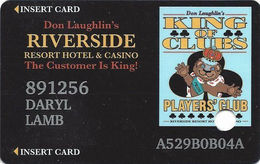 Riverside Casino - Laughlin, NV USA - 10th Issue Slot Card - Last Line Reverse 'for Any Reason' - Casino Cards