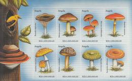 1999 Angola Mushrooms Fungi Complete Set Of 3 Sheets MNH - Angola