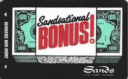 Sands Hotel Casino - Las Vegas, NV - BLANK 9th Issue Slot Card - Casino Cards