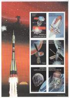1999 Angola Space Set Of 4 Miniature Sheets Of 6 Astronomy Communications MNH - Angola