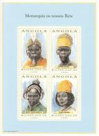 1999 Angola Tribal Kings Costumes Culture Miniature Sheet Of 4 MNH - Angola