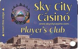 Sky City Casino - Acoma, NM -  BLANK 3rd Issue Slot Card - Casino Cards