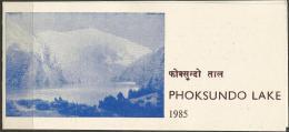 NEPAL - 1985 PHOKSUNDO LAKE FIRST DAY FOLDER   SG 466  Sc 439 - Nepal