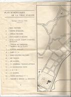 Plan Schématique De La Ville D'ALGER , ALGERIE , Ligne De Tramway, 53 X 28, 3 Scans ,frais Fr 1.55 E - Cartes Routières