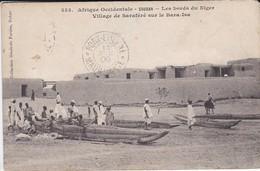 SOUDAN-les Bords Du Niger--village De Saraféré Sur Le Bara-isa--( Peu Courante )--afrique Occidentale--voir 2 Scans - Soudan
