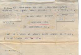 WZ L 1  Telegramm Aus Aspach Nach Judenburg Am 2. 2. 1933 - 1918-1945 1. Republik