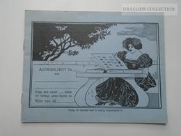 ZA157.20 Briefmarken-Auswahlheft  -Leipzig  Old Empty Stamp Booklet - Old Paper