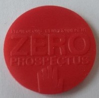Jeton De Caddie - ZERO PROSPECTUS - Protegeons L'environnement - En Plastique - - Trolley Token/Shopping Trolley Chip