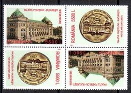 Romania 2001/ Castle Of Postes / 2x2 Val T-B - Post